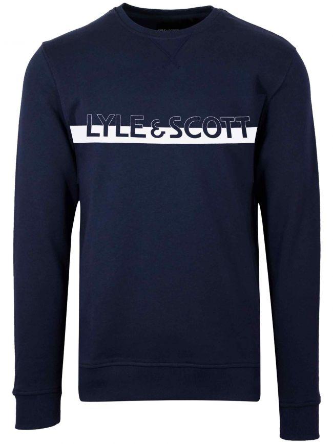 Navy Blue Chest Logo Sweatshirt