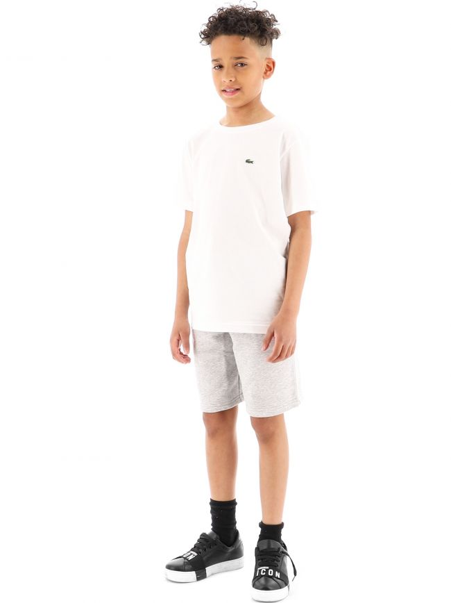 Lacoste Kids White Crew Neck T-Shirt
