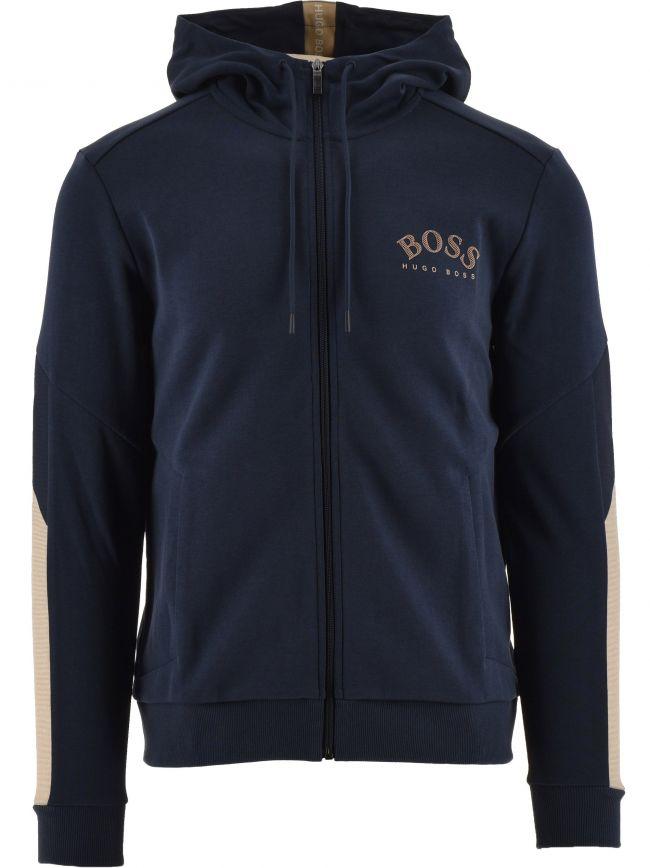 Navy Saggy Zip Hooded Sweatshirt