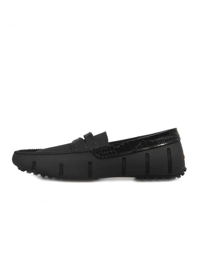 Black Penny Alligator Loafer
