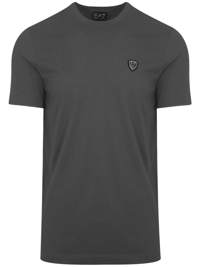 Antracite Grey Shield Logo T-Shirt
