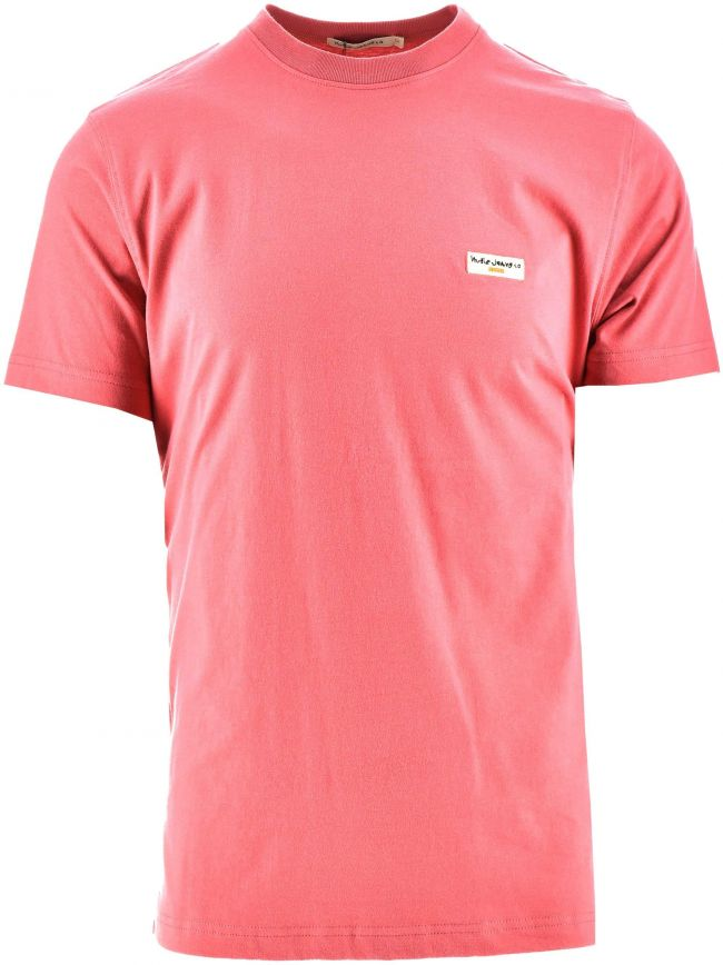 Daniel Dusty Red Melange Logo T-Shirt