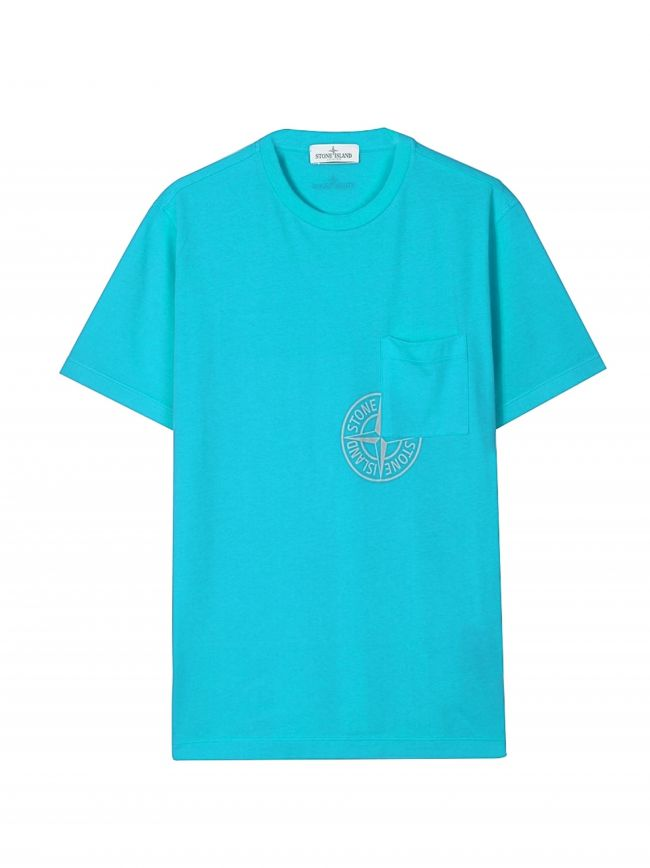 Sky Blue Pocket Logo T-Shirt