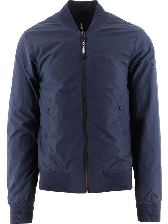 Navy Recycled Nylon Jacket Jacket