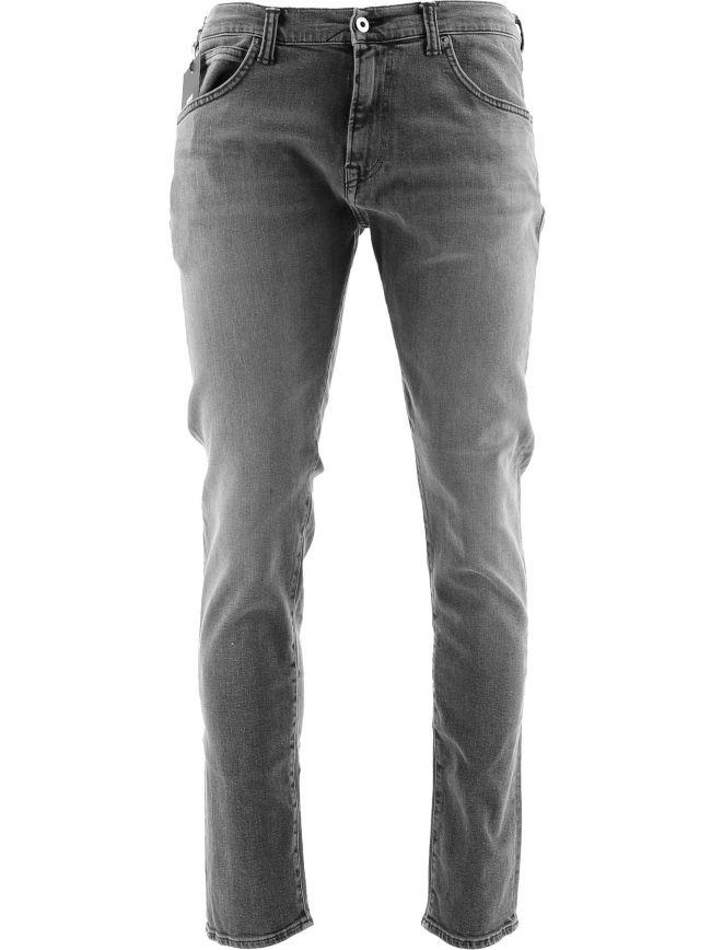 ED-85 Grey Slim Tapered Drop Crotch Jean