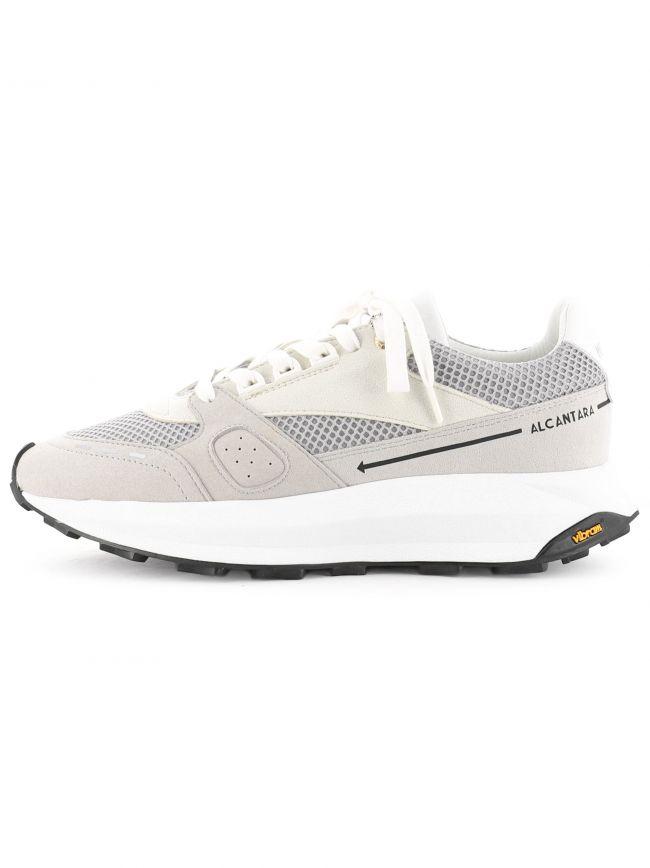 White Racer Lux Alcantara Sneaker