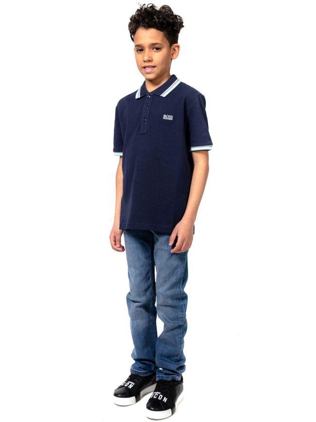 BOSS Kids Navy Short Sleeve Polo Shirt