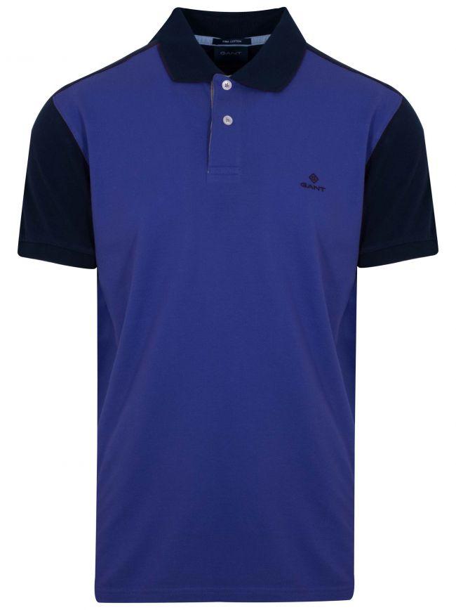 College Blue Polo Shirt