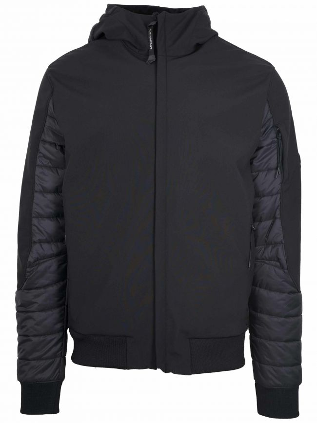Black Quilted Soft Shell Jacket