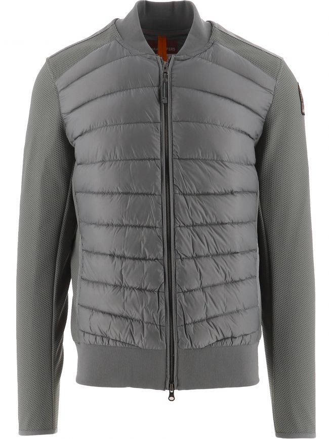 Grey Terence Fleece Nylon Jacket
