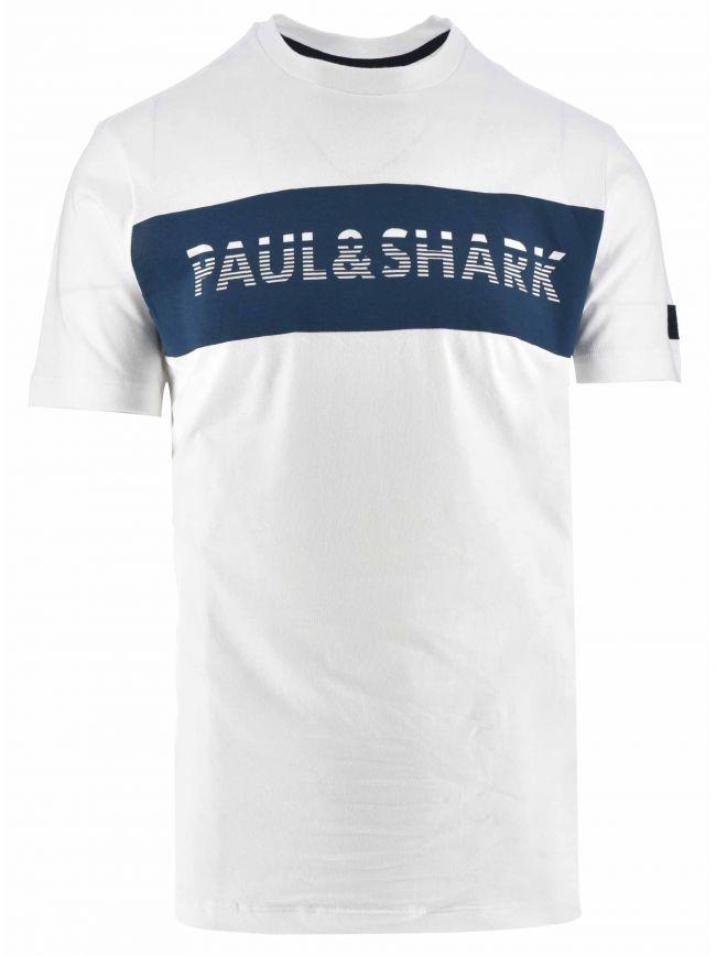 White Band Print Logo T-Shirt