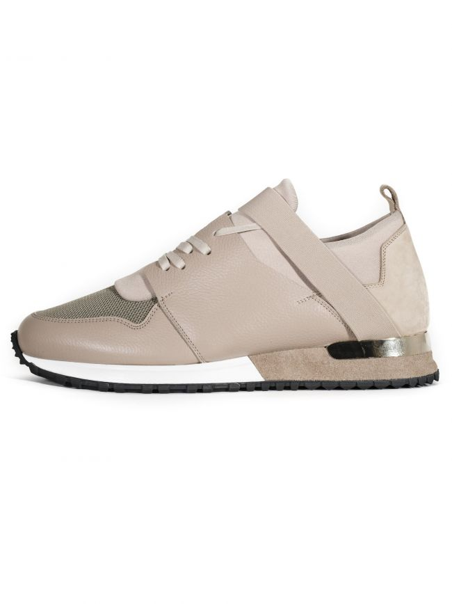 Elasticated Gold & Sand Knit Sneaker