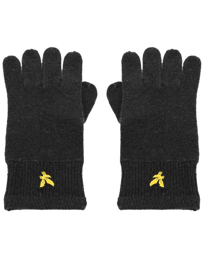 Black Racked Rib Gloves