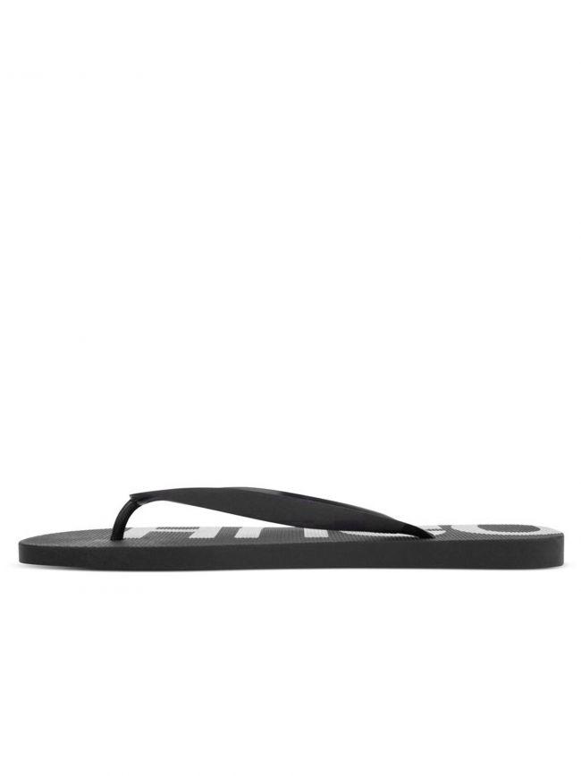 Black Logo Detail Flip Flops
