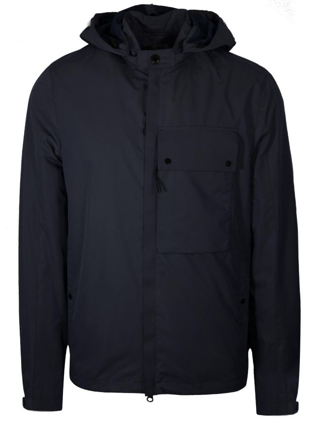 Navy Micro-M Waterproof Overshirt Jacket