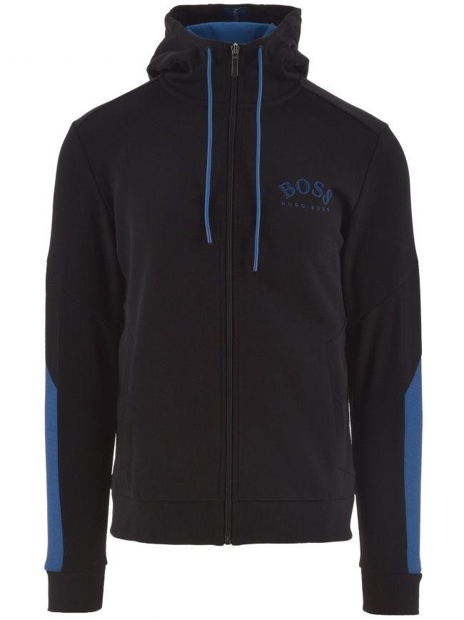 Black Saggy Zip Hooded Sweatshirt