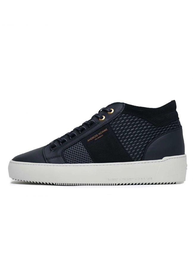 Navy and Grey Propulsion Mid Sneaker