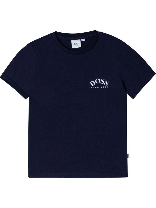 BOSS Kids Navy Short Sleeve T Shirt