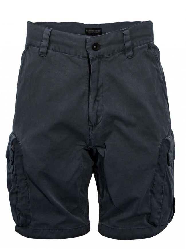 Navy Garment Dyed Cargo Short