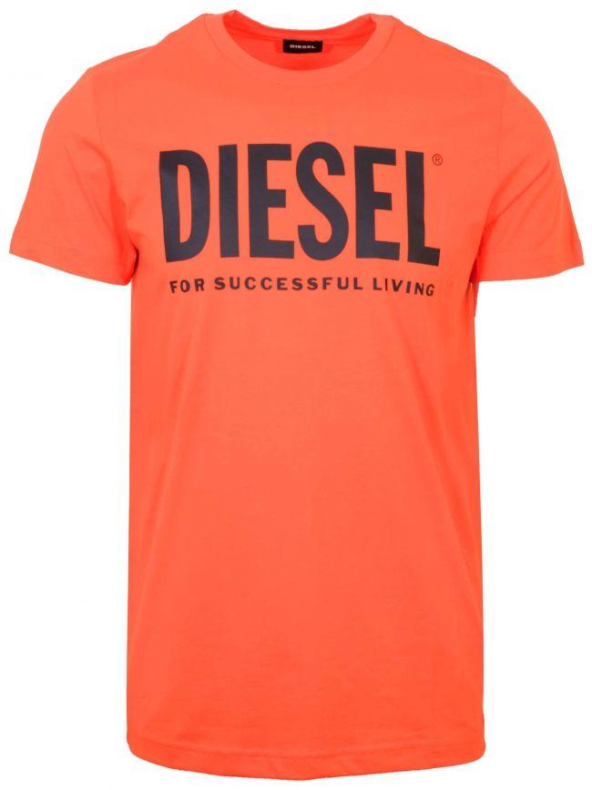 Orange Diego Print Logo T-Shirt