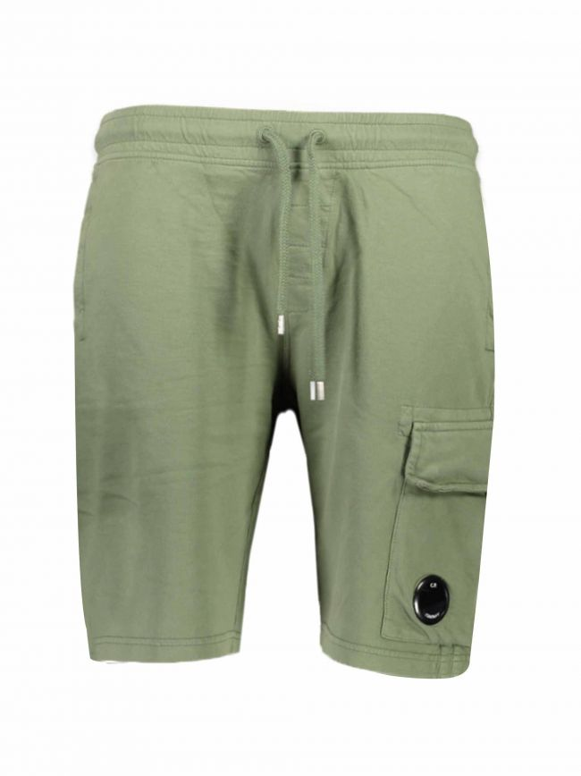 Military Green Cotton Shorts