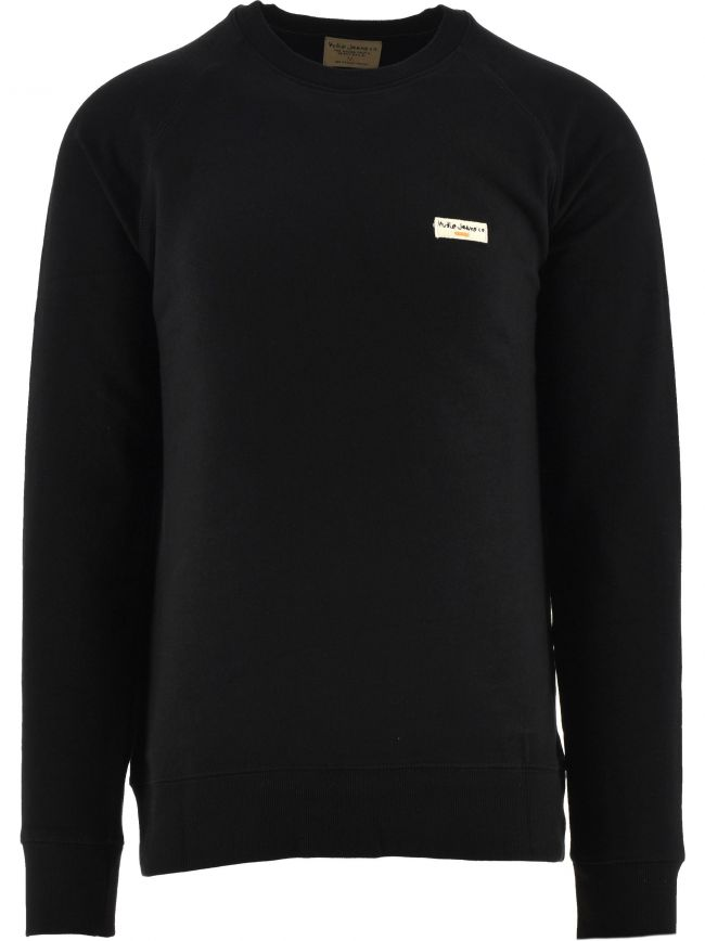 Black Samuel Logo Sweatshirt