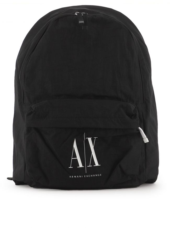 Black Icon Logo Backpack
