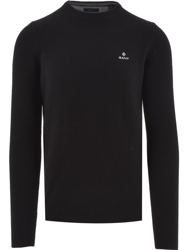 Black Honeycomb Sweatshirt