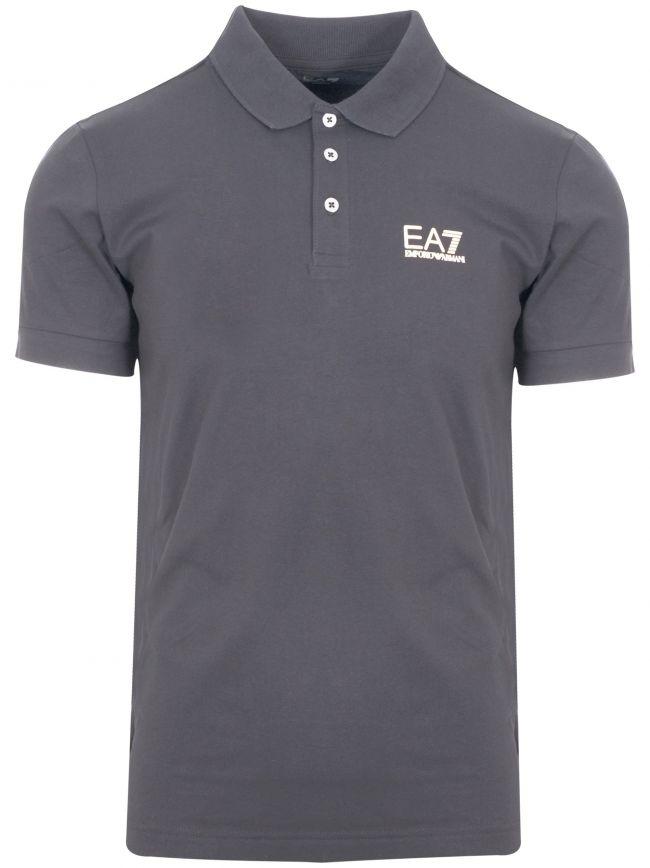 Grey Short Sleeve Polo Shirt