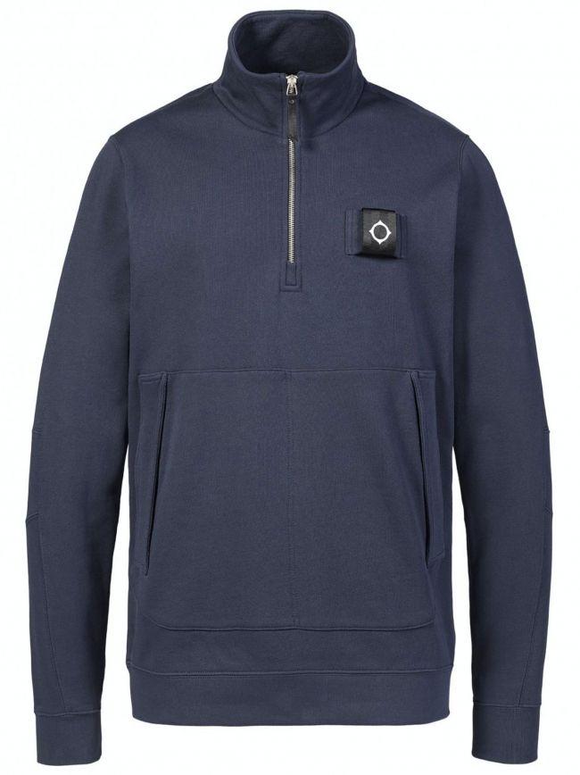 True Navy Training Quarter Zip Sweathshirt