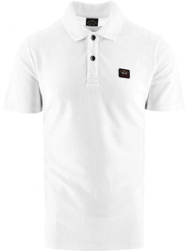 White Heritage Logo Cotton Pique Polo