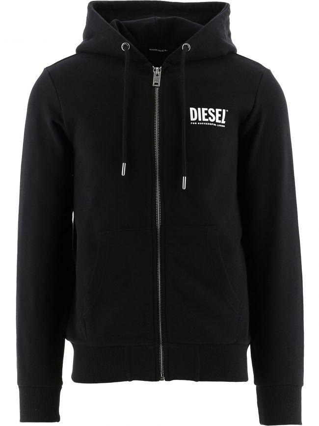 Black S-Girk Hooded Full Zip Logo Sweatshirt