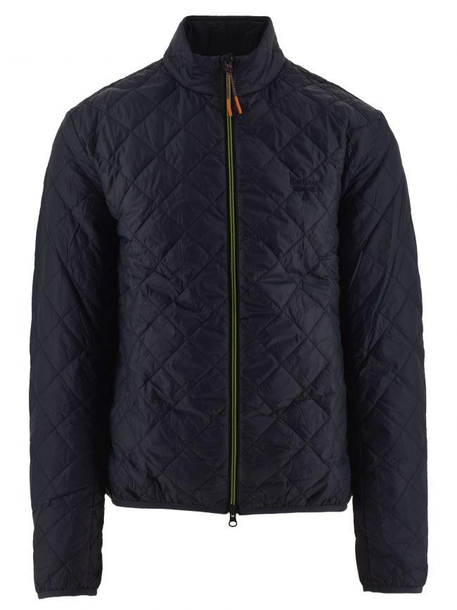 Navy Karl Box Quilt Jacket