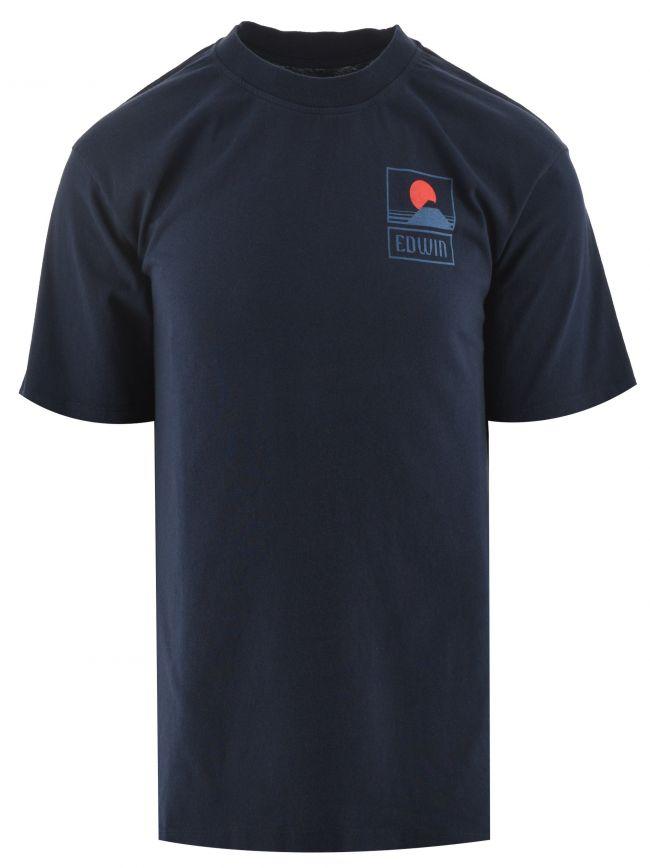 Navy Sunset On Mt Fuji T Shirt