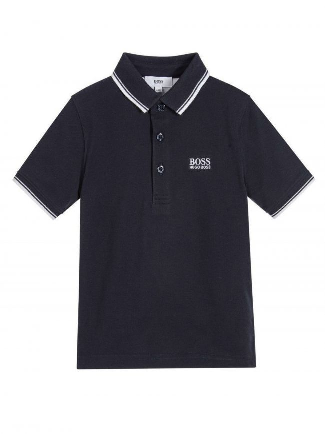 Navy Piquí© Cotton Polo Shirt