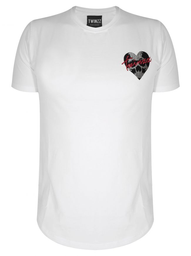 White Heart Logo T-Shirt