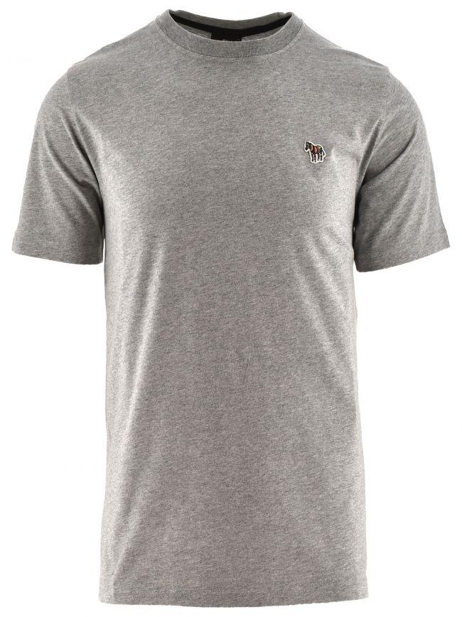 Grey Regular Short Sleeve Zebra T Shirt