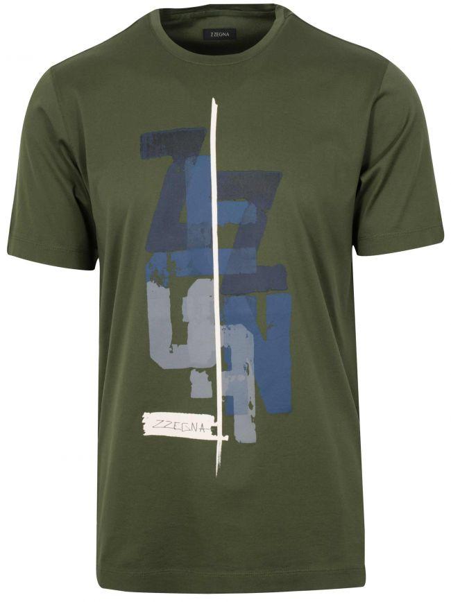 Dark Green Graphic Logo T-Shirt