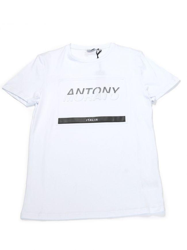 Antony Morato Kids White Chest Logo T-Shirt