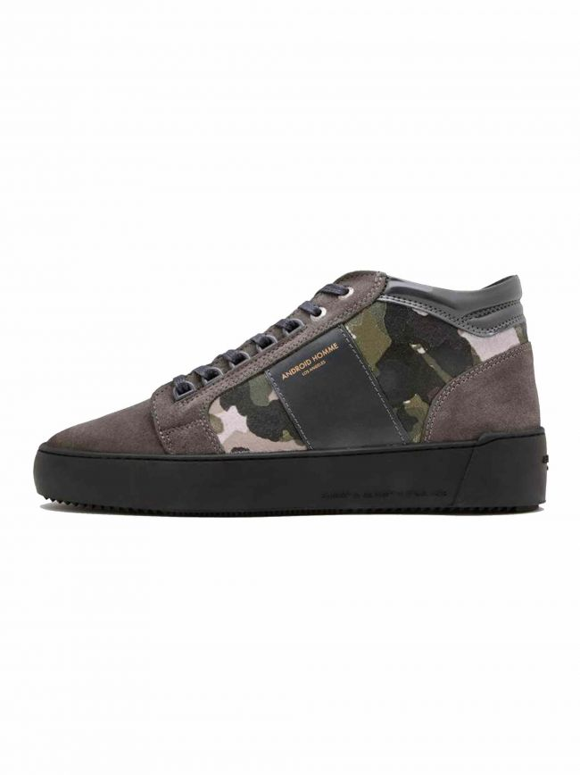 Grey Camouflage Suede Propulsion Mid Sneaker