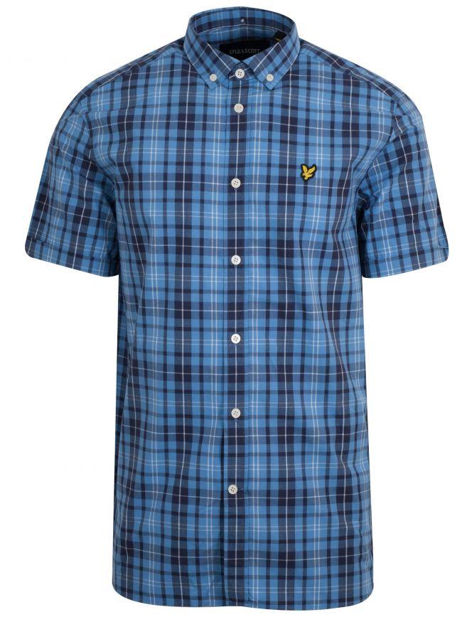Blue Check Short Sleeve Shirt