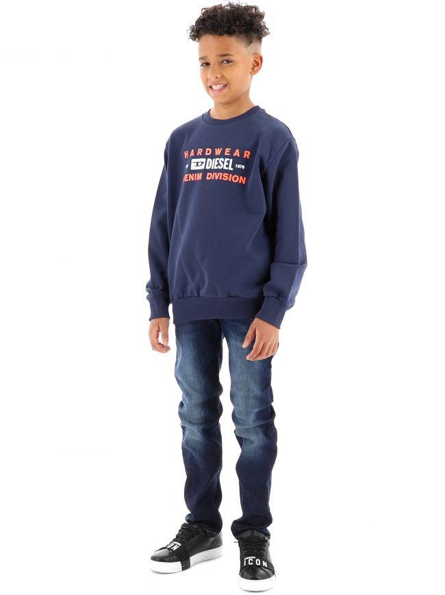 Diesel Kids Navy S-GIRK-K10 Sweatshirt