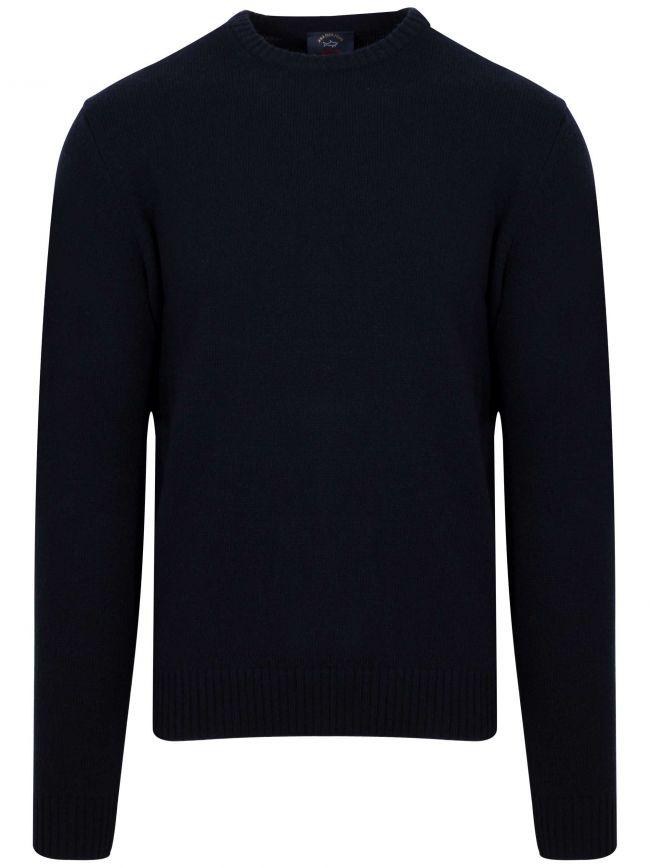 Colours Of Shetland Navy Knitwear Wool Jumper