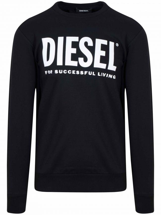 Black Printed Logo Sweatshirt