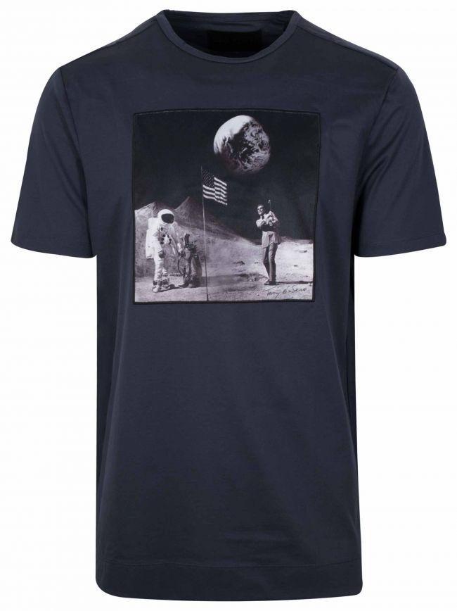 Midnight Blue Man On The Moon T-Shirt