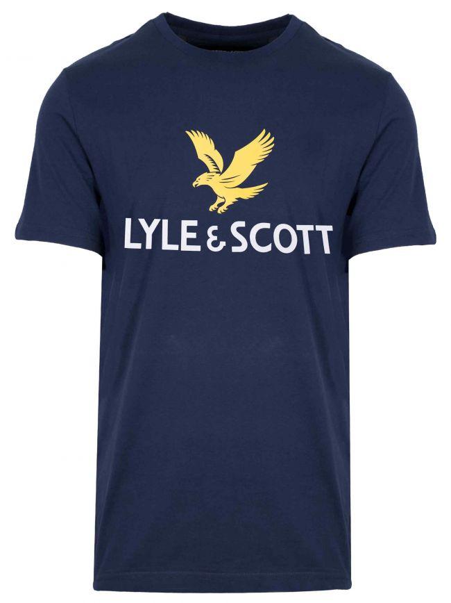 Print Logo Navy T-Shirt