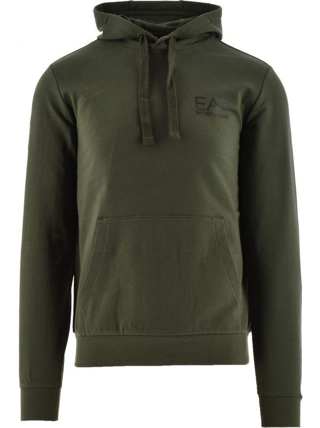 Green Logo Hooded Sweatshirt
