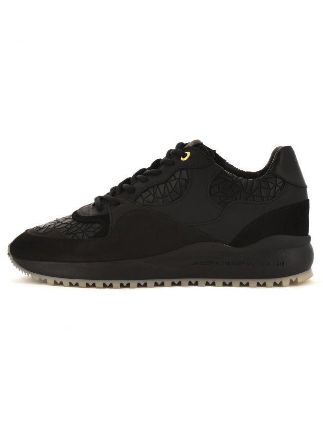 Santa Monica 319 Black Leather Sneaker