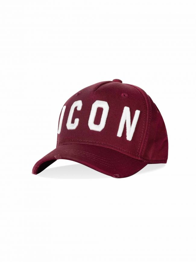 Bordeaux Red & White ICON Embroidered Cap