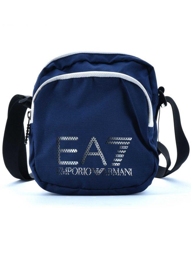 Dark Blue Double Pouch Bag